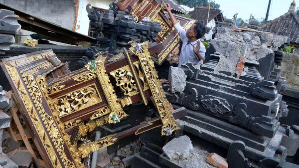 Последствия землетрясения на острове Бали, Индонезия - Sputnik Грузия