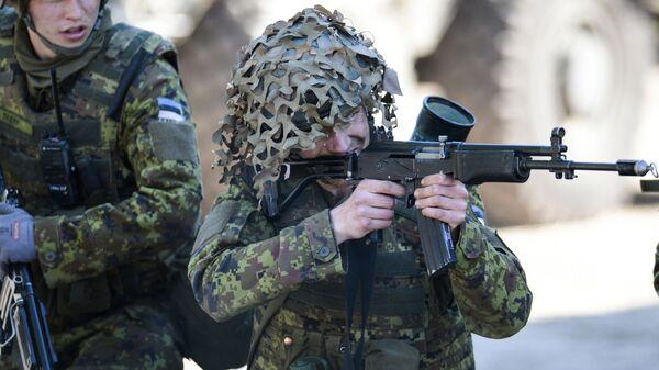Военные учения НАТО Spring storm в Эстонии - Sputnik Грузия