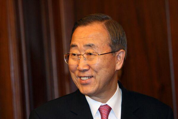 Председатель ООН Пан Ги Мун - Sputnik Грузия