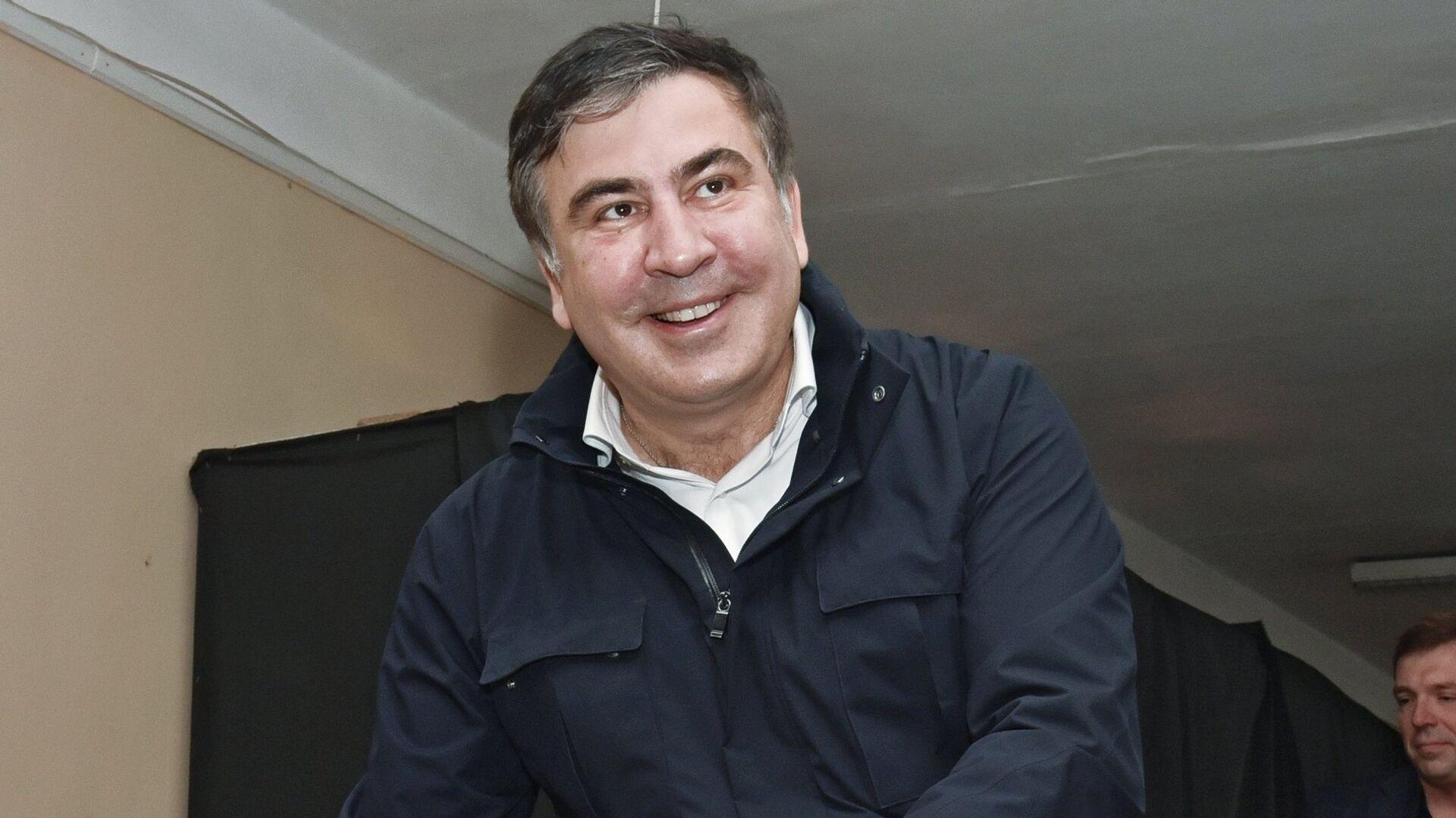 Выборы на Украине. Михаил Саакашвили - Sputnik Грузия, 1920, 07.10.2021