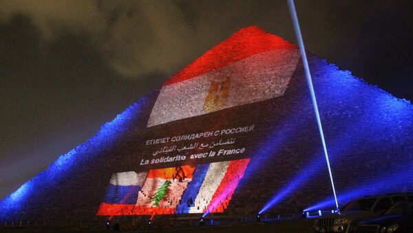 Акция памяти жертв крушения российского А321 и парижских терактов - Sputnik Грузия