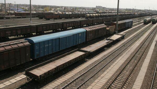 Товарные поезда. Железная дорога. Станция - Sputnik Грузия