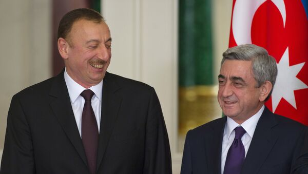 ილჰამ ალიევი (აზერბაიჯანის პრეზიდენტი) და სერჟ სარქისიანი (სომხეთის პრეზიდენტი) - Sputnik საქართველო