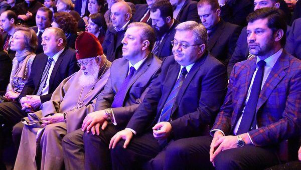 Президент и министры поздравили Патриарха с Днем рождения - Sputnik Грузия