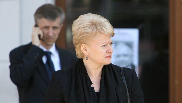 Президент Литвы Далия Грибаускайте - Sputnik Грузия