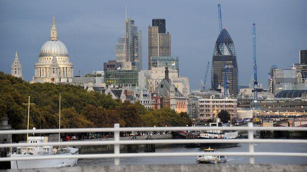 Города мира. Лондон. Деловой центр. Вид с моста Ватерлоо - Sputnik Грузия