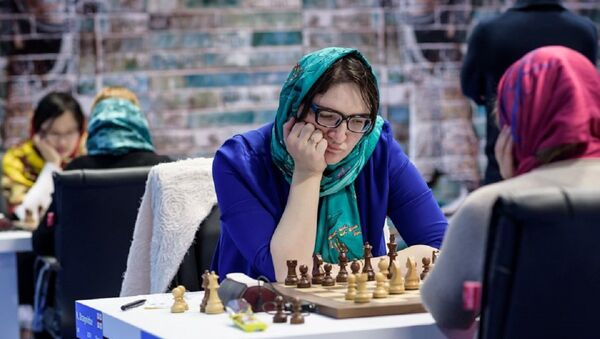 Лидер женской сборной Грузии по шахматам Нана Дзагнидзе во втором туре Гран-При Тегеран - Sputnik Грузия