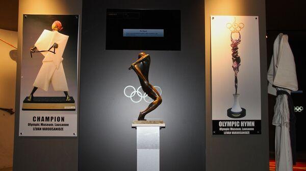 Экспозиция, посвященная участию грузинских спортсменов в Олимпийских играх, в здании Олимпийского комитета Грузии - Sputnik Грузия