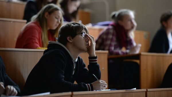 Студенты в аудитории - Sputnik Грузия