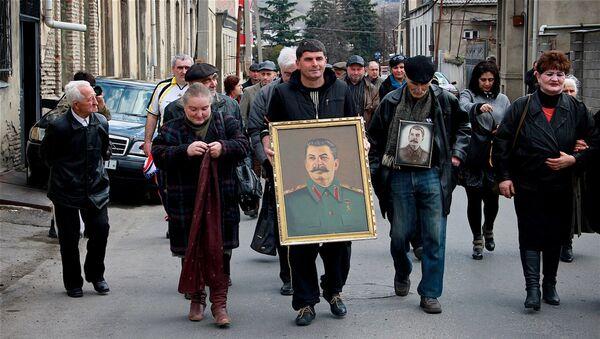 """""""სტალინელების"""" აქცია გორში - Sputnik საქართველო"""