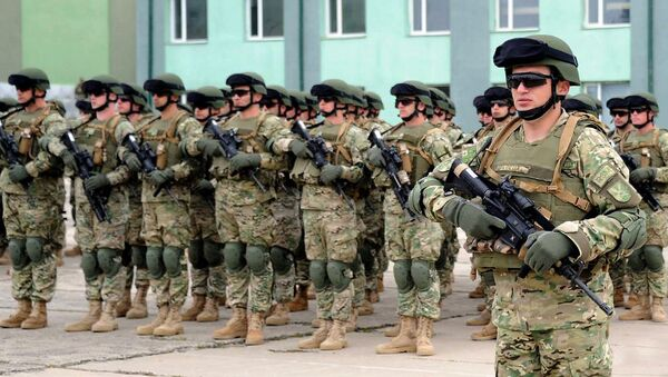 Грузинские военные готовятся к отправке в Афганистан - Sputnik Грузия