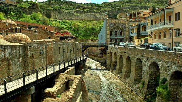 Абанотубани - район серных бань в старом городе - Sputnik Грузия