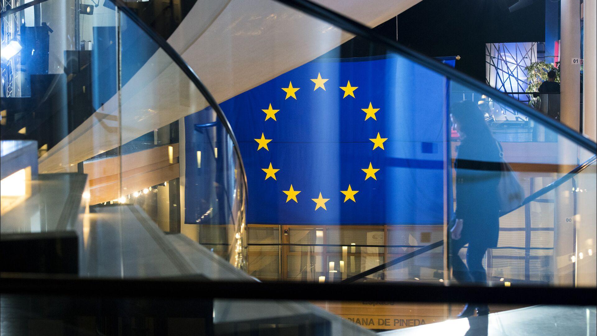 Флаг ЕС в Европарламенте - Sputnik Грузия, 1920, 06.10.2021
