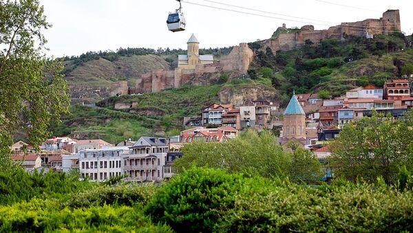 Исторический центр Тбилиси, вид на Мейдан и крепость Нарикала - Sputnik Грузия