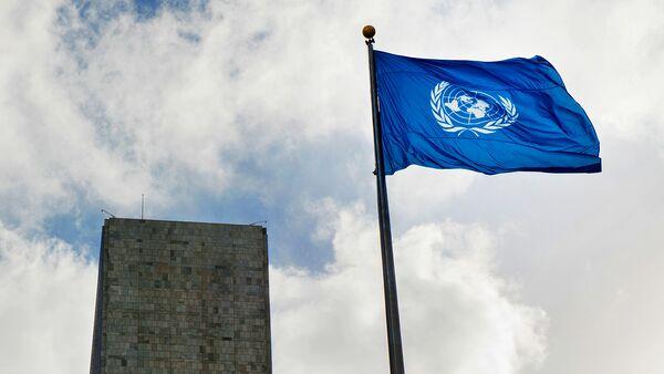 Флаг у Штаб-квартиры ООН в Нью-Йорке - Sputnik Грузия