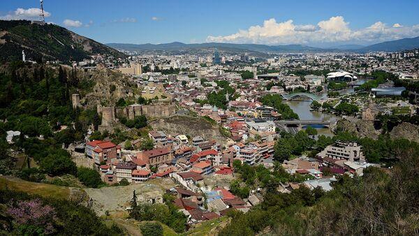 Вид на Тбилиси от монастыря Табори - Sputnik Грузия