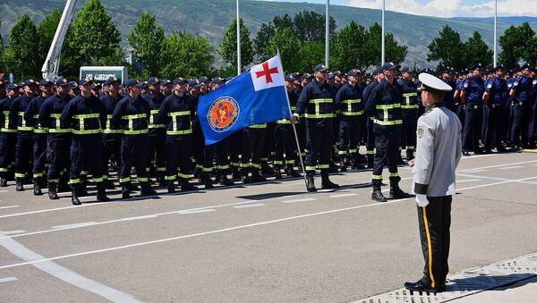 Полицейские машины, броневики и подразделения МВД - День полиции Грузии - Sputnik Грузия