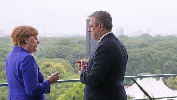 Ангела Меркель и Георгий Квирикашвили - Sputnik Грузия