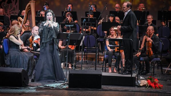 Тамара Гвердцители на благотворительном концерте - Sputnik Грузия