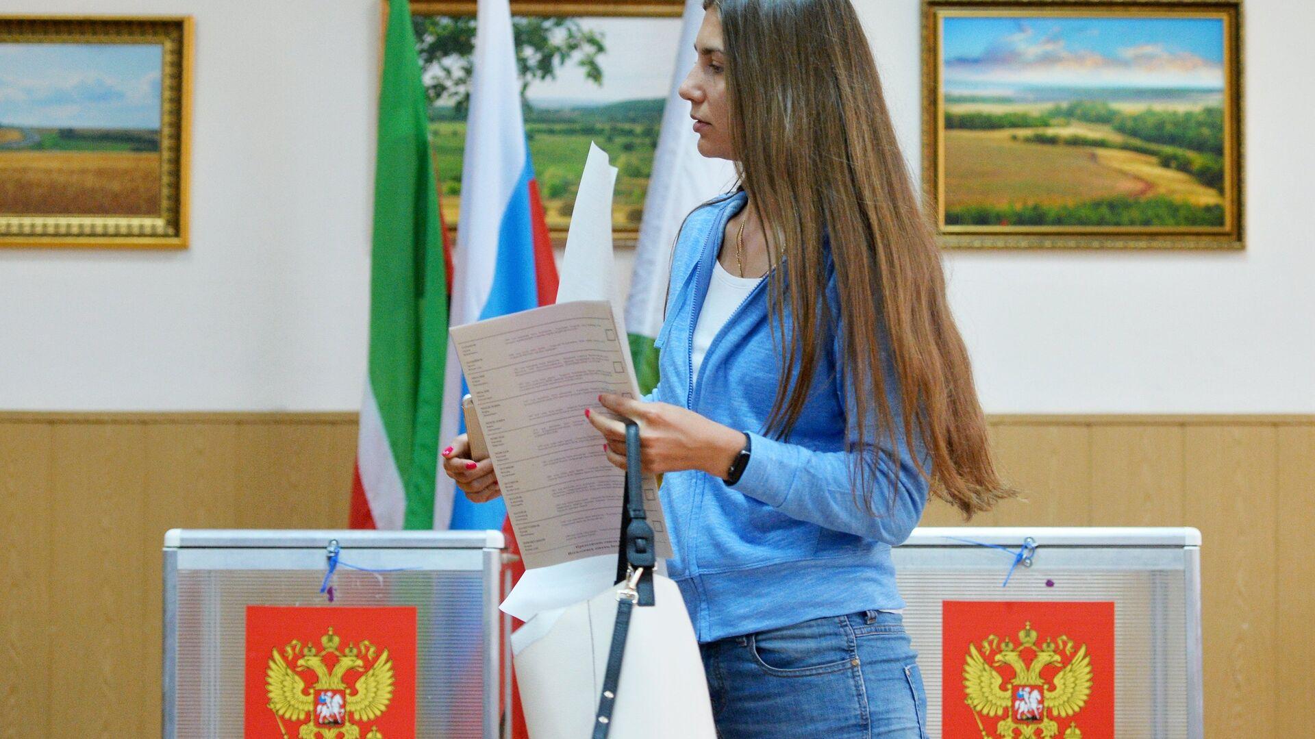Предварительное голосование за кандидатов от партии Единая Россия, выдвигаемых на выборы в Госдуму - Sputnik Грузия, 1920, 24.09.2021