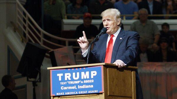 Кандидат в президенты США от Республиканской партии Дональд Трамп в штате Индиана - Sputnik Грузия