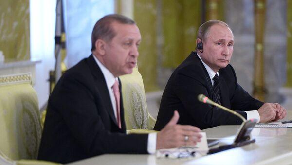 Встреча президентов России и Турции В. Путина и Р. Эрдогана в Санкт-Петербурге - Sputnik Грузия