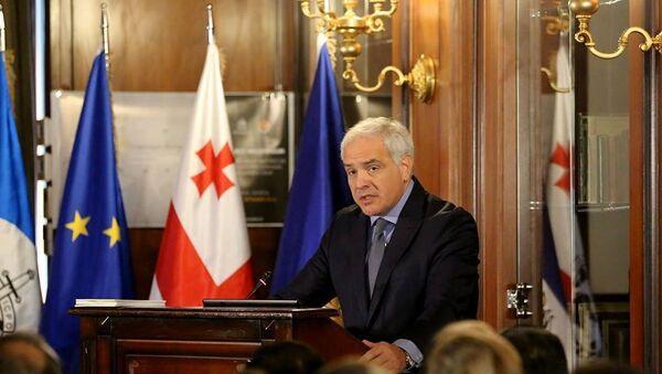 Георгий Мгебришвили на конференции Millenium - Sputnik Грузия
