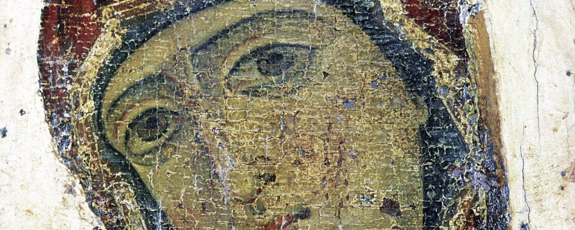 Изображение Богоматери. Фрагмент иконы Благовещение (Устюжское) - Sputnik Грузия, 1920, 06.04.2021