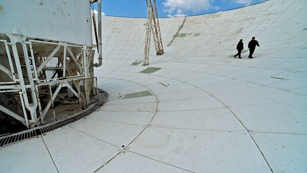 Зеркало приемо-передающей антенны радиотелескопа - Sputnik Грузия