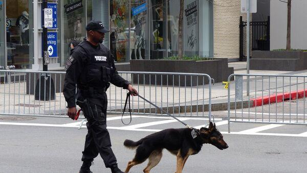 Сотрудники полиции на улицах Бостона - Sputnik Грузия