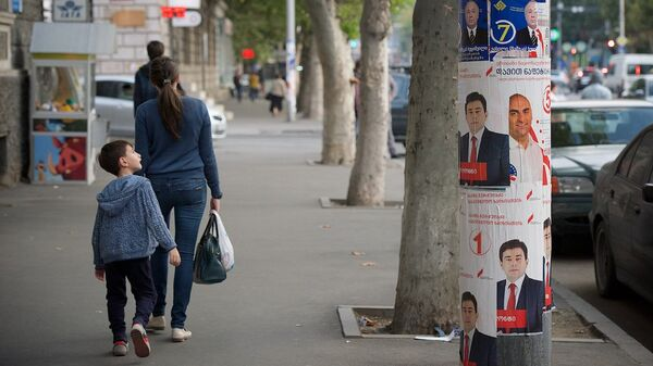 Предвыборные плакаты в столице Грузии - Sputnik Грузия