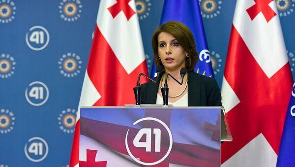 Грузинская мечта - заявление Тамар Чугошвили по выборам - Sputnik Грузия