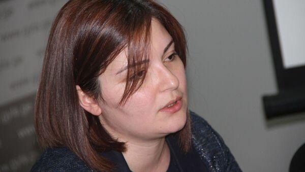 Председатель НПО Ассоциация молодых юристов Грузии Анна Нацвлишвили. - Sputnik Грузия