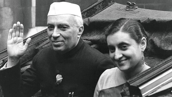 Индира Ганди и Джавахарлал Неру - Sputnik Грузия