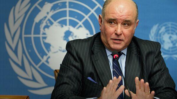 Заместитель министра иностранных дел РФ Григорий Карасин выступает в Организации Объединенных Наций - Sputnik Грузия