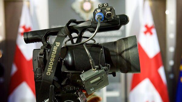 Журналисты на пресс-конференции - Sputnik Грузия