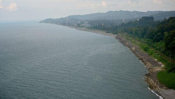 Черноморское побережье Грузии - вид со смотровой площадки Батумского ботанического сада - Sputnik Грузия