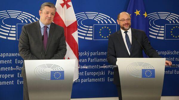 Георгий Квирикашвили и Мартин Шульц - Sputnik Грузия