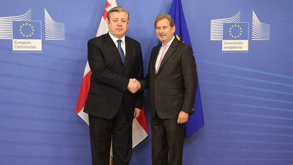 Георгий Квирикашвили и Йоханес Хан - Sputnik Грузия