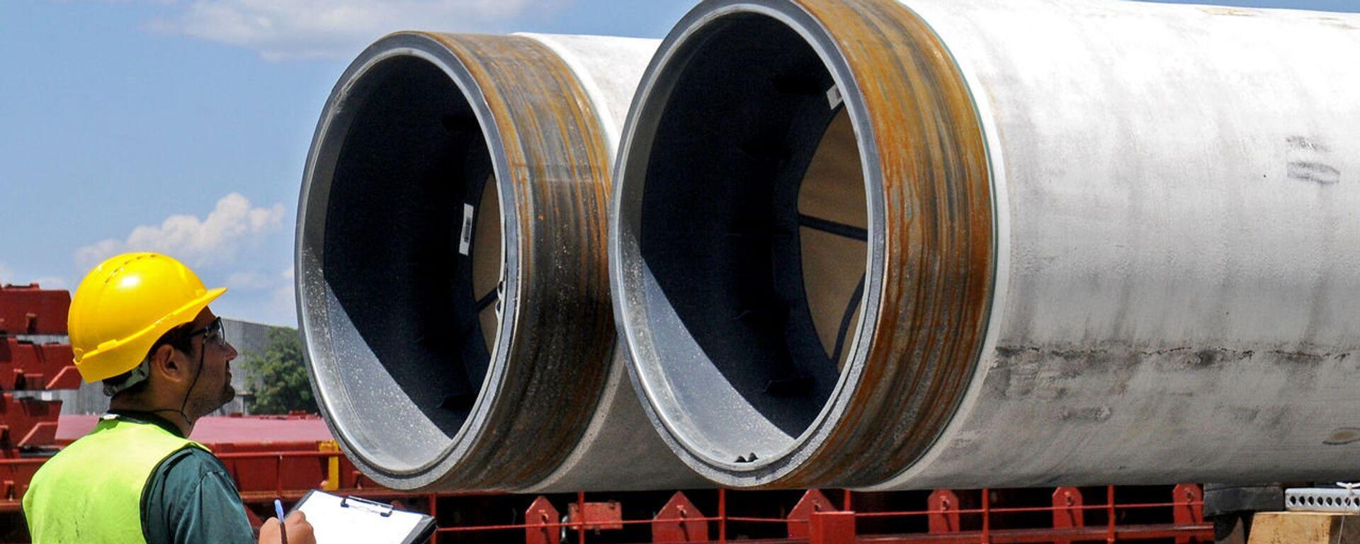 Доставка труб для морского газопровода «Турецкий поток» - Sputnik Грузия, 1920, 24.07.2020