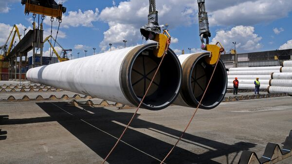 Доставка труб для строительства Турецкого потока - Sputnik Грузия
