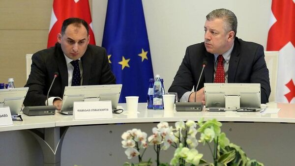 Георгий Квирикашвили на заседании правительства Грузии - Sputnik Грузия