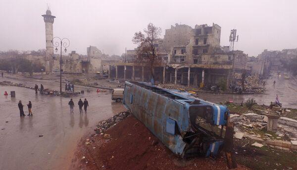 Так выглядит один из кварталов восточного Алеппо после долгого противостояния с боевиками - Sputnik Грузия