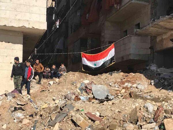 Квартал Салахеддин - после вывода боевиков и членов их семей из восточного Алеппо - Sputnik Грузия