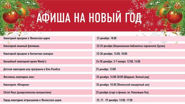 Новогодняя афиша - Sputnik Грузия