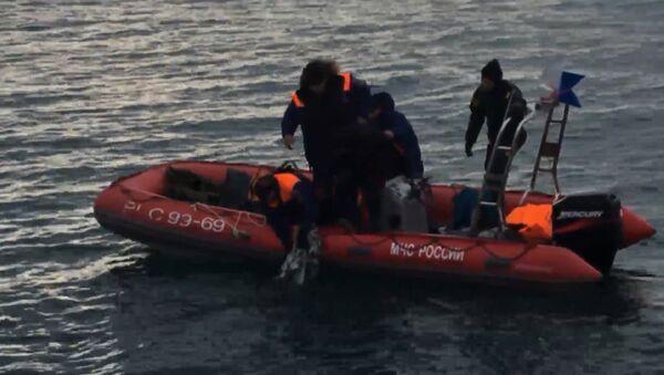 Спасатели МЧС РФ подняли из воды предположительно фрагменты упавшего Ту-154 - Sputnik Грузия