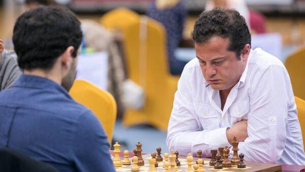 Грузинский шахматист Леван Панцулая на чемпионате мира по быстрым и блиц шахматам в Дохе - Sputnik Грузия