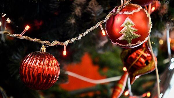 Новогодние украшения и игрушки на елке - Sputnik Грузия