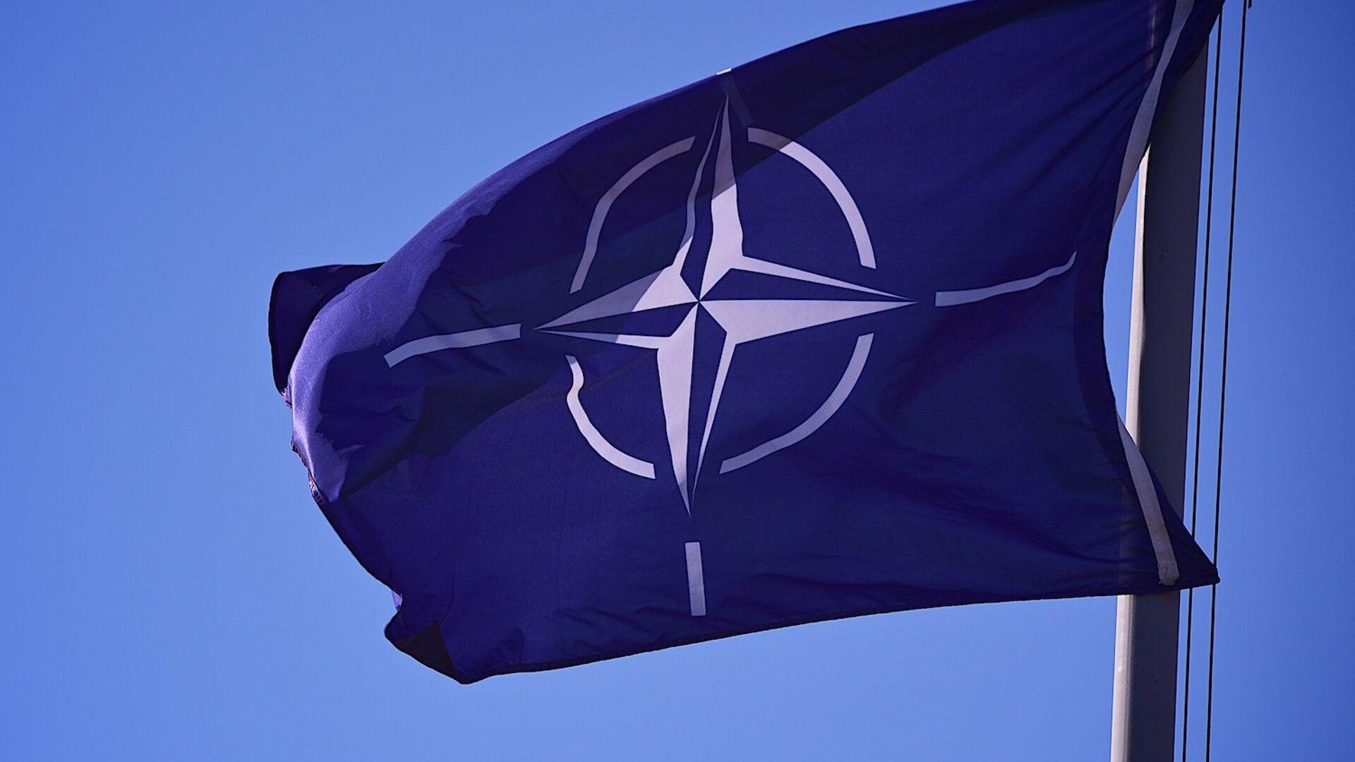 Флаг НАТО на территории учебного центра JTEC на военной базе в Крцаниси - Sputnik Грузия, 1920, 10.06.2021