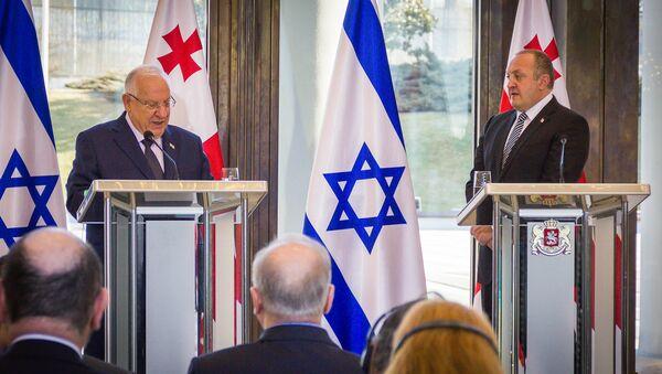 Президент Грузии Георгий Маргвелашвили на встрече с президентом Израиля Реувеном Ривлином - Sputnik Грузия
